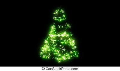 순환하는 것, 녹색, 모양, 나무, 크리스마스