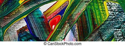 스트로크, 캔버스, 밝은, 제자리표, 색, 페인트
