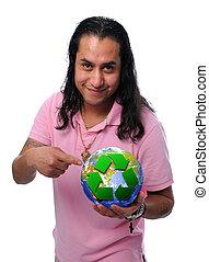 스페인 사람 남자, 보유, 지구