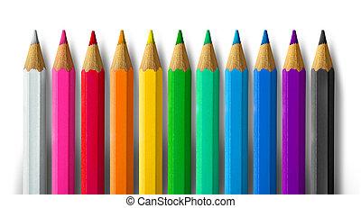 스펙트럼, 연필 색깔
