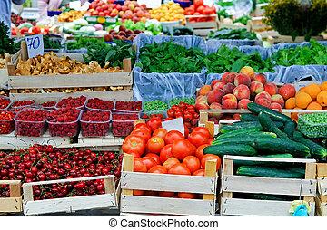 시장, 농부, 장소