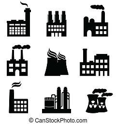 식물, 공장, 산업의, 힘, 건물