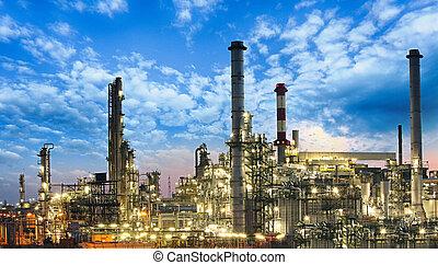 식물, 기름, 가스, 산업, -, 정련소, 석유 화학 제품, 공장