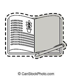 식물, 심상, 뽑기 책, 열려라, 아이콘