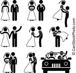 신랑, 신부, 결혼, 결혼식