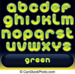 신선한, 샘, 녹색