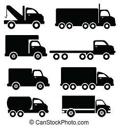 실루엣, 트럭