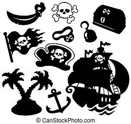 실루엣, 해적, 수집