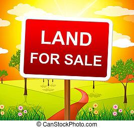 실상의, 표현한다, 땅, 재산, 구입, 판매, 대리인
