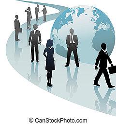 실업가, 미래, 진보, 세계, 좁은 길