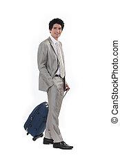 실업가, 여행 가방
