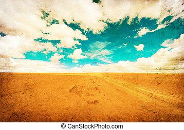 심상, grunge, 사막, 길