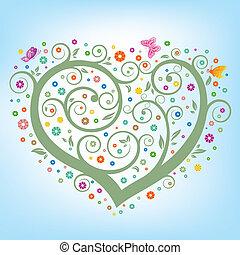 심장, 꽃의