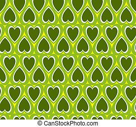 심장, 녹색의 배경