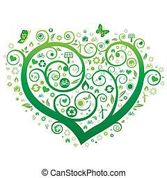 심장, 녹색