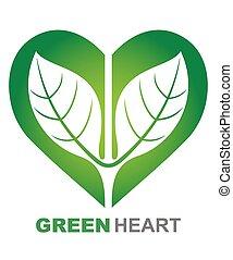 심장, 녹색, 삽화