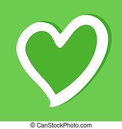 심장, 녹색, 아이콘