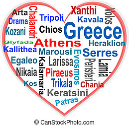 심장, 더 큰, 낱말, 그리스, 도시, 구름