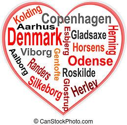 심장, 덴마크, 더 큰, 낱말, 도시, 구름