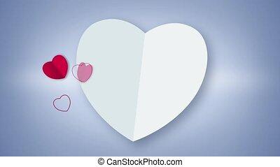 심장, 백색, 생기, 모양, 카드