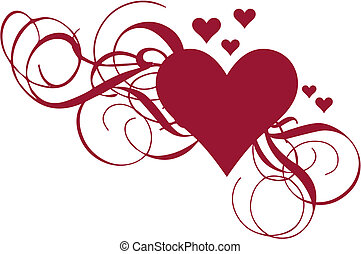 심장, 벡터, 소용돌이