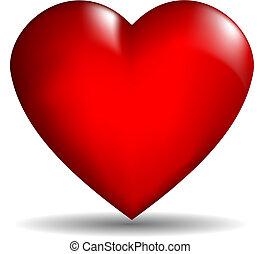 심장, 벡터, 3차원
