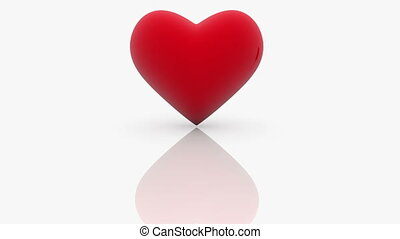 심장, 사랑, 빨강, 낱말, 백색