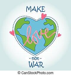 심장, -, 사랑, 세계