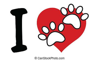 심장, 사랑, 원본, 빨강, 발