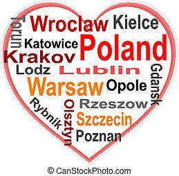 심장, 폴란드, 더 큰, 낱말, 도시, 구름