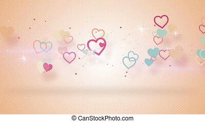 심장, seamless, 형체, 생기, 그림자, 고리