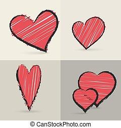 심혼, 손, 수집, drawed