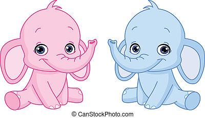 아기, 코끼리