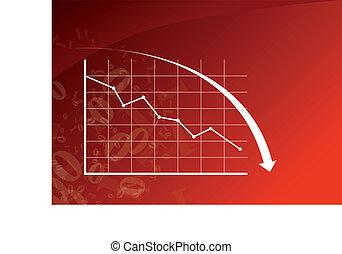 아래로의, 그래프