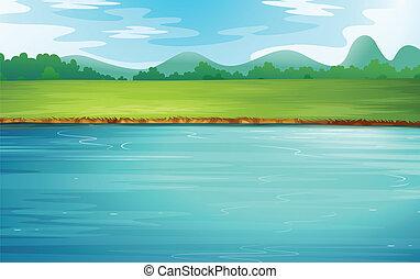 아름다운, 강 조경