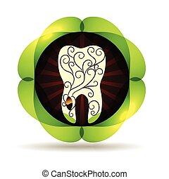 아름다운, 꾸밈이다, 식물, 삽화, 떼어내다, 이, 씨, 디자인, 소용돌이, 뿌리