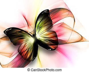 아름다운, 나비