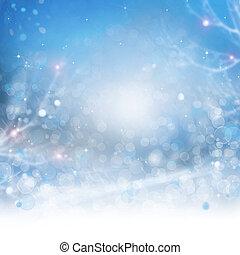 아름다운, 배경., 떼어내다, bokeh, 겨울