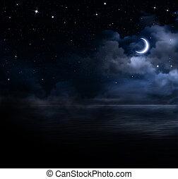 아름다운, 열려라, 하늘, 바다, 밤