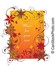 아름다운, 오렌지, 가을, 구조