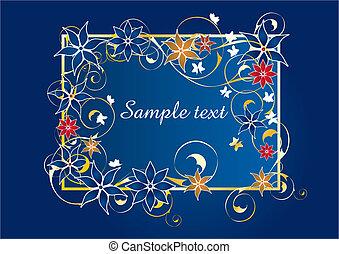 아름다운, 파랑, 구조, 꽃의