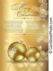 아름다움, 떼어내다, 배경., 년, 새로운, 크리스마스