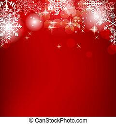 아름다움, 떼어내다, 삽화, 배경., 벡터, 년, 새로운, 크리스마스