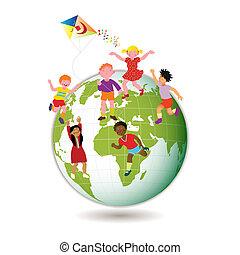 아이들, 세계, 약