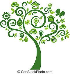 아이콘, 나무 2, -, 생태학의