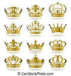 아이콘, 세트, 금의 왕관