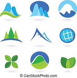 아이콘, 자연, 산, turism