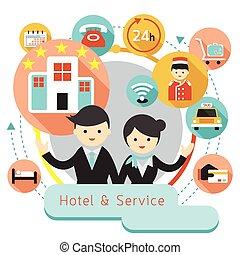 아이콘, 호텔, 표제, 적응