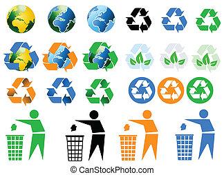 아이콘, 환경, 재활용