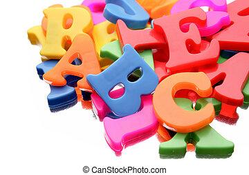 알파벳, 편지